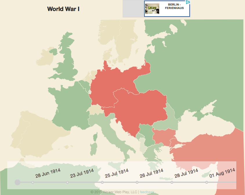 World War I Interactive Map and Timeline